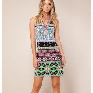 Hale Bob Dresses - Hale Bob Embellished Emmie Print Jersey Dress C135